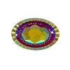 Resin Sew-on Piikki Stones 10pcs 20x30mm Oval Red Aurora Borealis